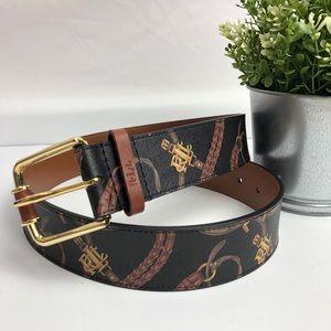 Ralph Lauren | Black printed belt size large